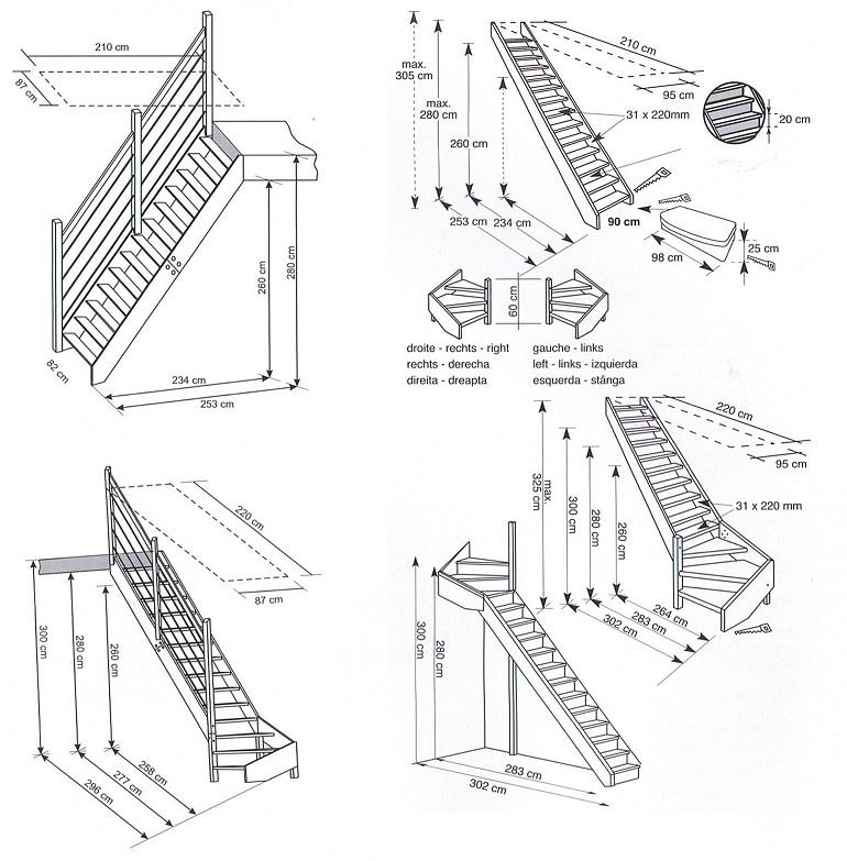Of rechtsom draaiend zowel boven als onder geplaatst for Spiltrap berekenen
