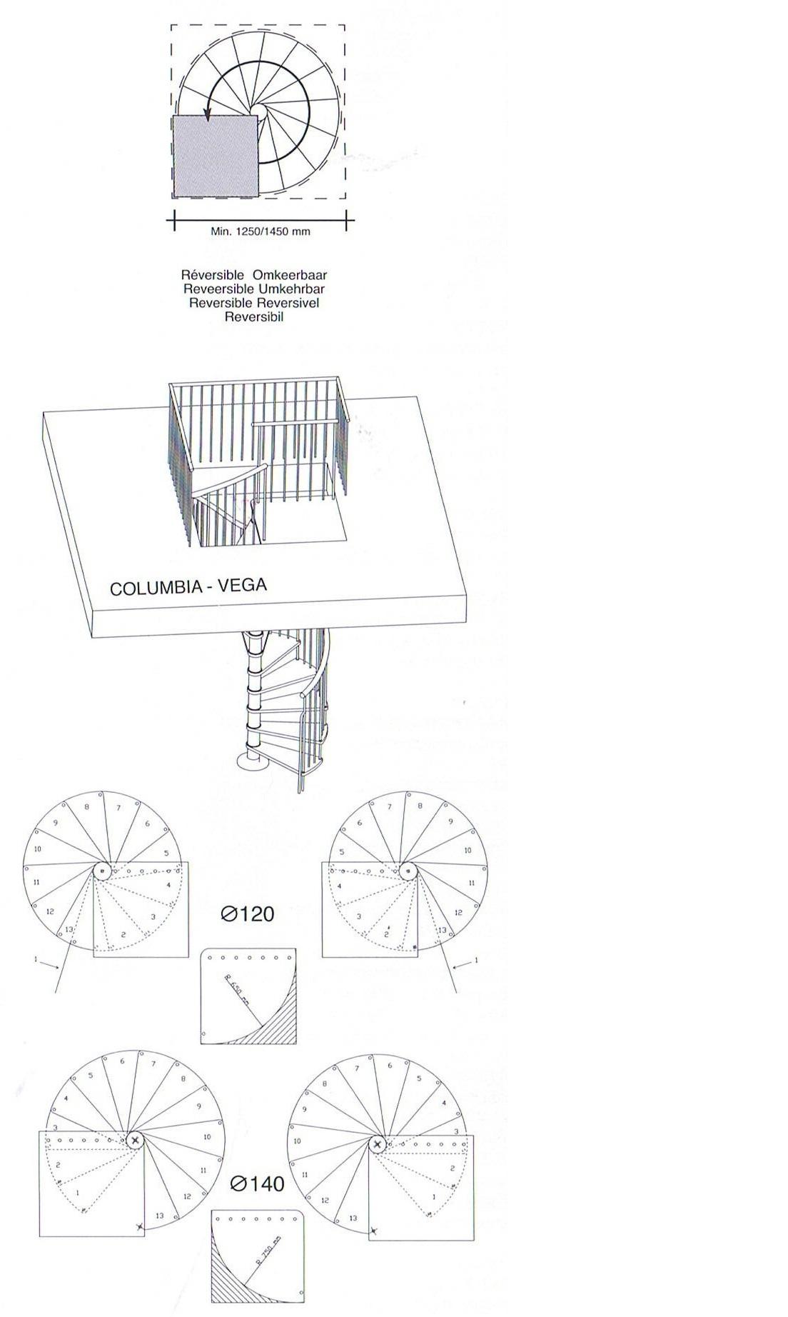 Is aan te passen voor rond trapgat baluster leuning metaal for Trap doorsnede