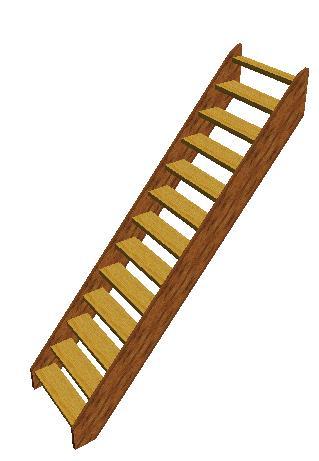 Vuren houten steek trap open uitvoering deze trap bereikt een for Steektrap hout
