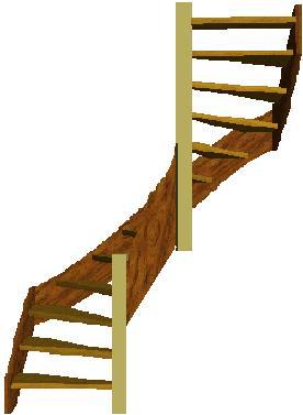 Van vuren hout en trede en lees verder op tweekwarten trap for 2 kwart trap